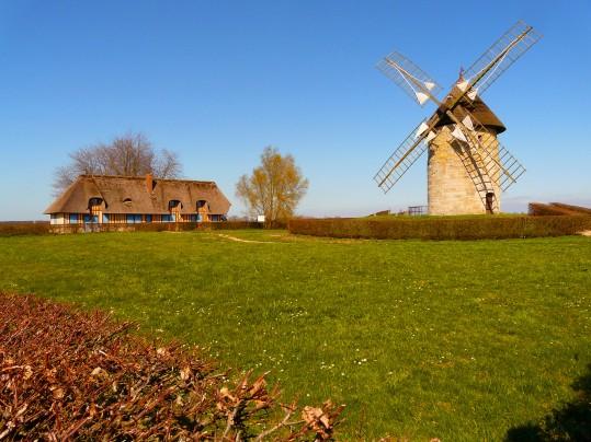 Le moulin de Hauville - Marais Vernier